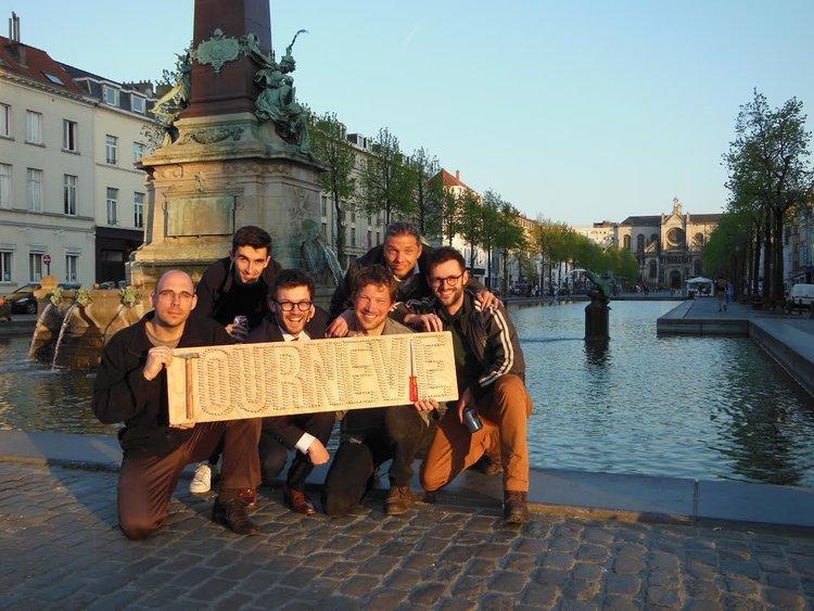 Het team Tournevie in Brussel